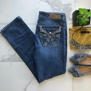 7 For All Mankind Straight Leg Boot Cut Jeans